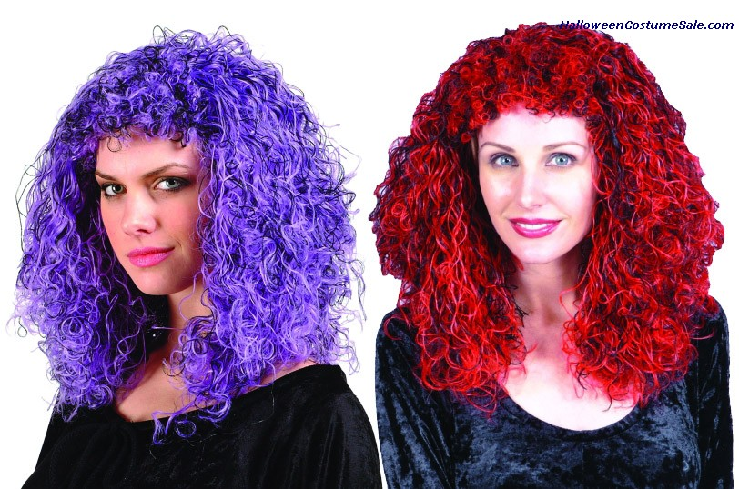 CURLY MULTICOLORED WIG