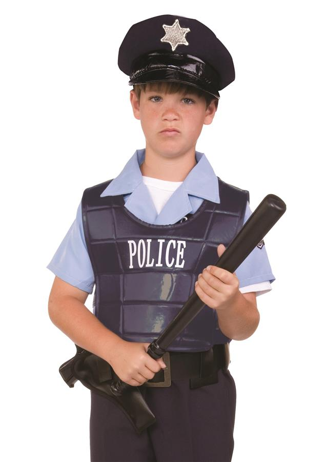 POLICEDRSS UP KIT - VEST & HAT CHILD SIZE