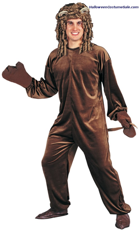 BROWN BEAR-VELVET COSTUME - Adult