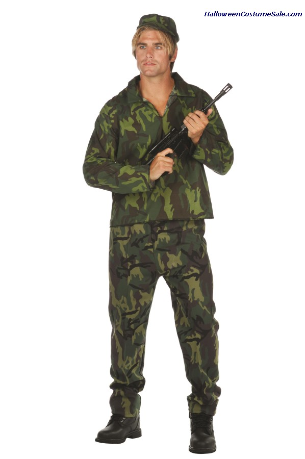 CAMOUFLAGE ADULT SOLDIER COSTUME