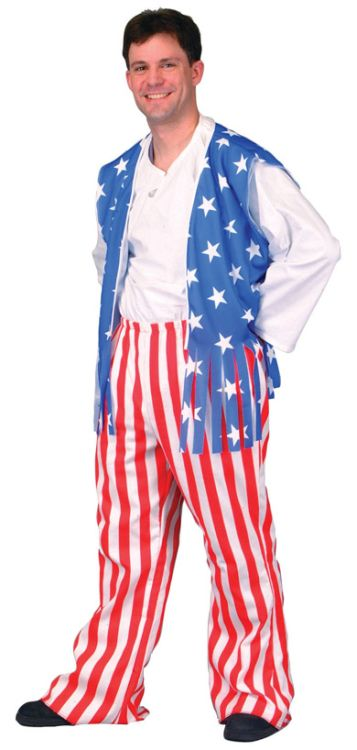 PATRIOTIC HERO ADULT COSTUME