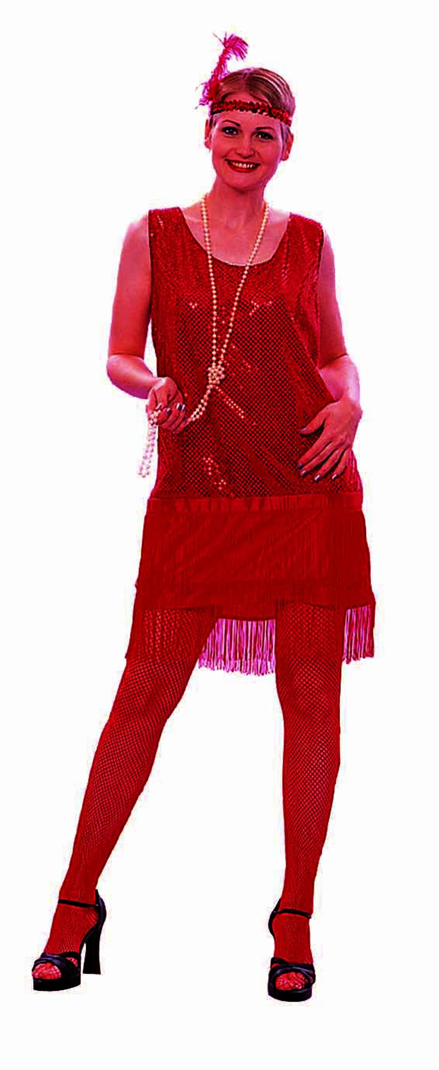 20S SEQUIN FLAPPER ADULT COSTUME