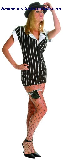 MOBSTER ADULT PLUS SIZE COSTUME