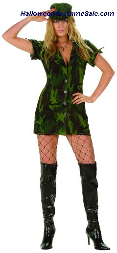 MILITARY GIRL ADULT COSTUME - PLUS SIZE