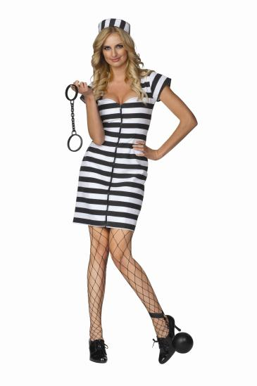 JAIL BIRD JANE ADULT COSTUME