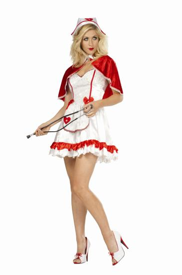 CAPED NURSE ADULT COSTUME
