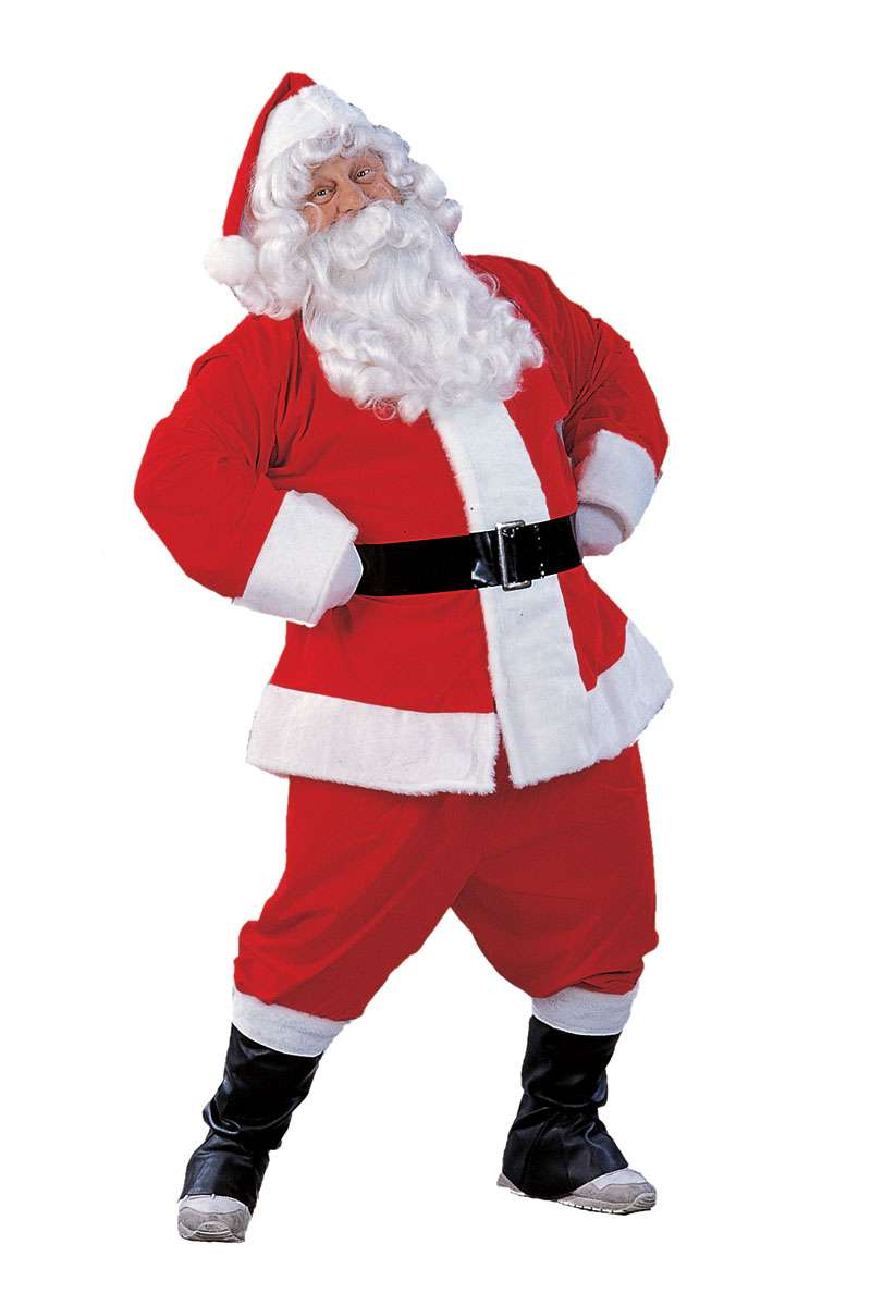 SANTA SUIT- VELOUR ADULT COSTUME