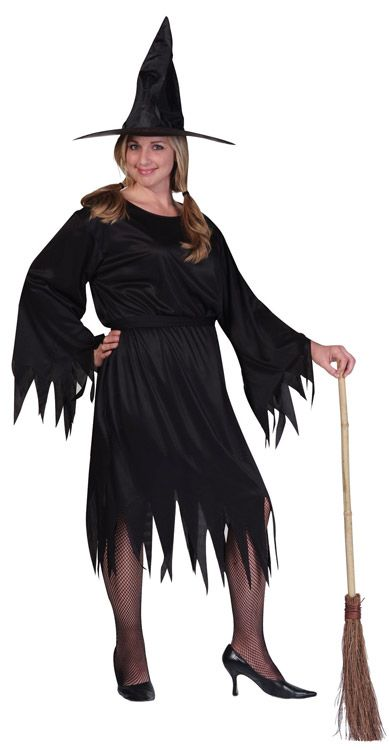CLASSIC WITCH ADULT COSTUME- PLUS SIZE