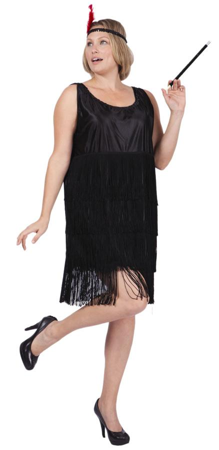 FLAPPER ADULT COSTUME, PLUS SIZE
