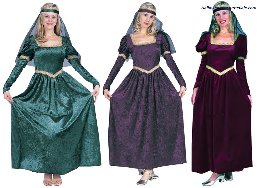 RENAISSANCE PRINCESS ADULT COSTUME, PLUS SIZE