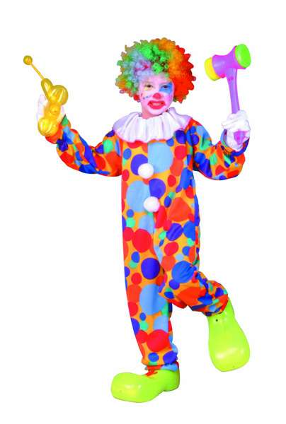 POLKA DOTS CLOWN CHILD COSTUME