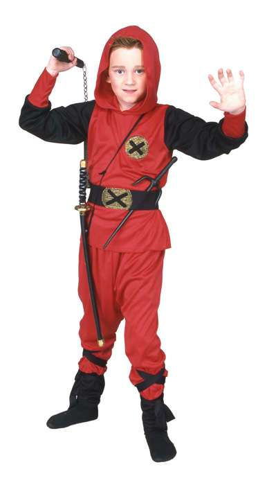 RED NINJA RANGER CHILD COSTUME