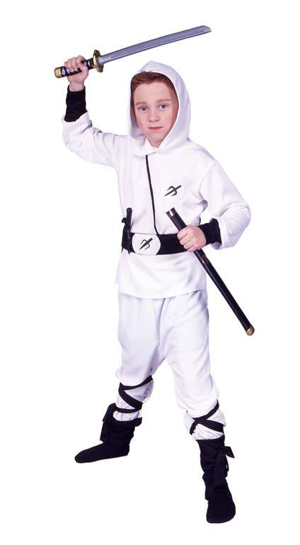 WHITE NINJA RANGER CHILD COSTUME