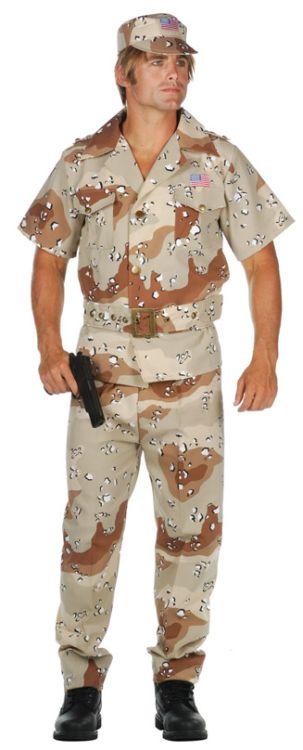 Storm Fox- Desert Camouflage Adult Costume