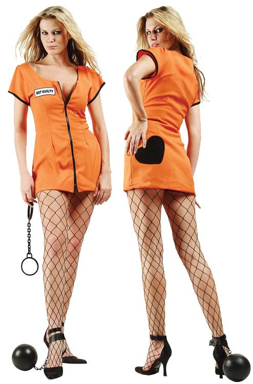 Sexy Convict Adult Costume - Plus Size