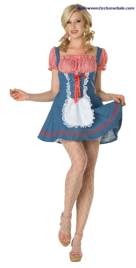 SEXY SQUARE DANCE ADULT COSTUME - PLUS SIZE
