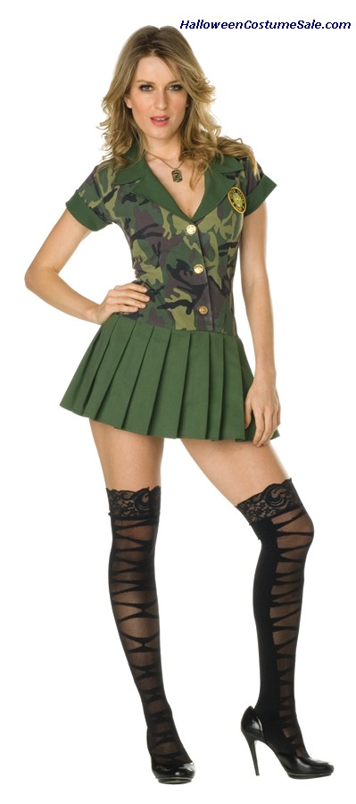 CAMO CUTIE ADULT COSTUME - PLUS SIZE