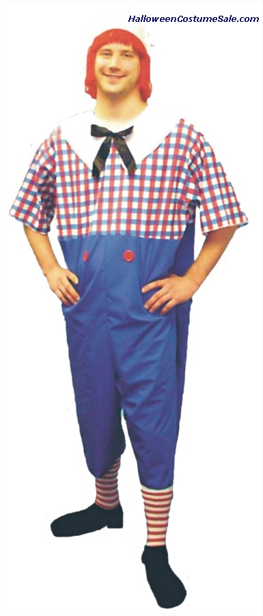 RAGGEDY ANDY ADULT COSTUME - PLUS SIZE