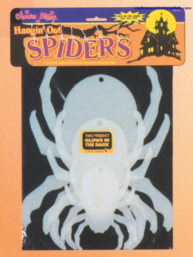 GLOW IN THE DARK HANGING SPIDERS