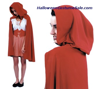 RED RIDING HOOD ADULT CAPE