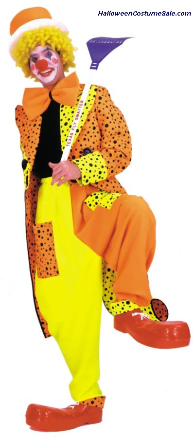 DAPPER DAN NEON CLOWN ADULT COSTUME