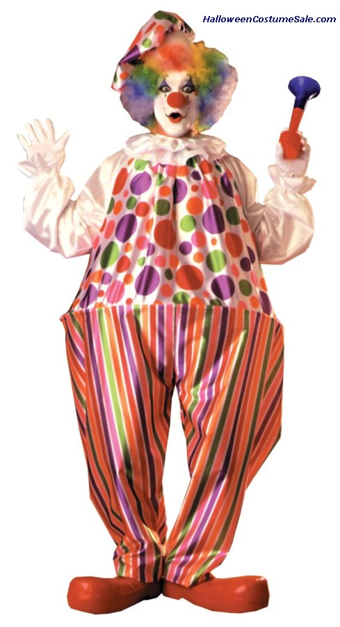 SNAZZY/HARPO HOOP CLOWN ADULT COSTUME