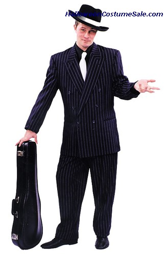 ADULT ZOOT SUIT - W/WHITE PIN STRIPES