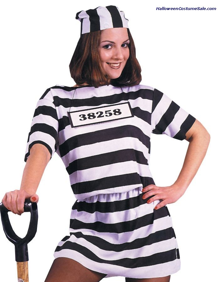 ADULT CONVICT WOMAN COSTUME