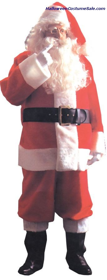 PLUSH ADULT SANTA SUIT