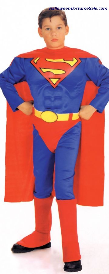 SUPERMAN CHILD COSTUME (W/CHEST)