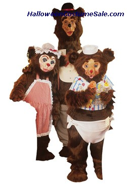 PAPA BEAR MASCOT ADULT COSTUME - AS PICTURED
