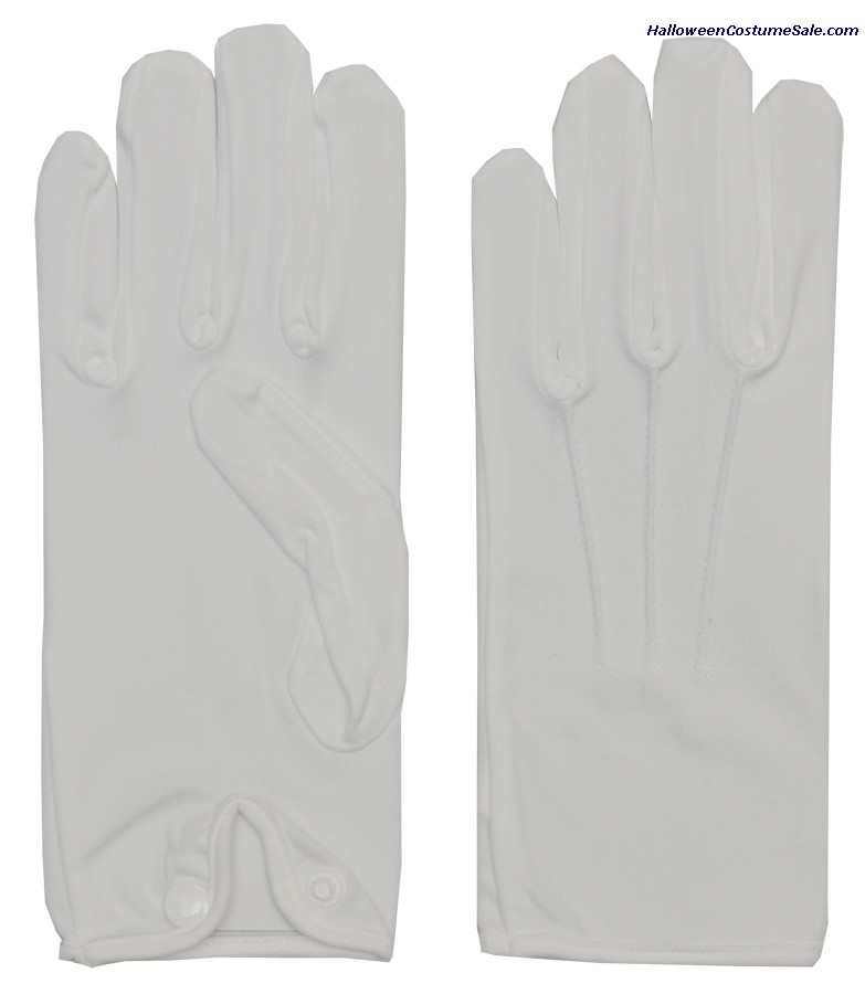 MEN NYLON GLOVES WITH SNAP WHITE