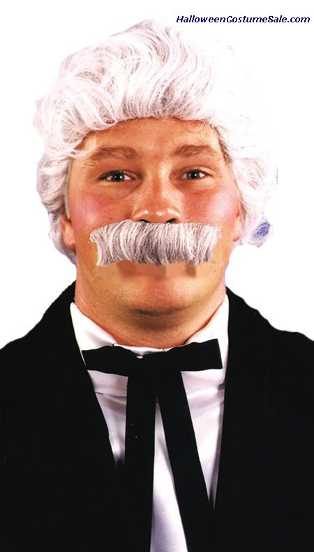 MARK TWAIN WIG & MOUSTACHE SET