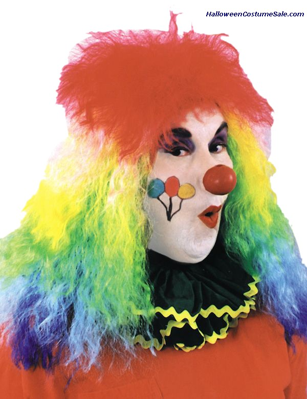 RAINBOW COLORED CLOWN WIG