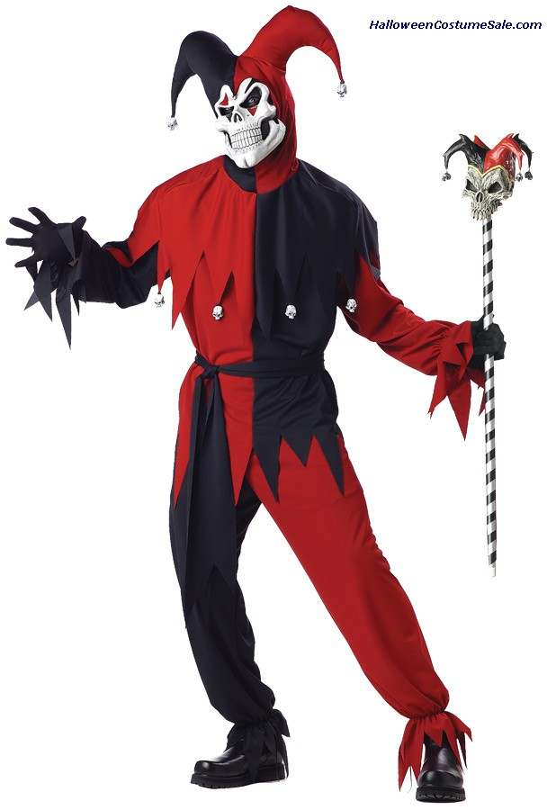 JESTER EVIL MEN ADULT COSTUME