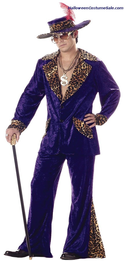 PIMP MEN PURPLE ADULT COSTUME