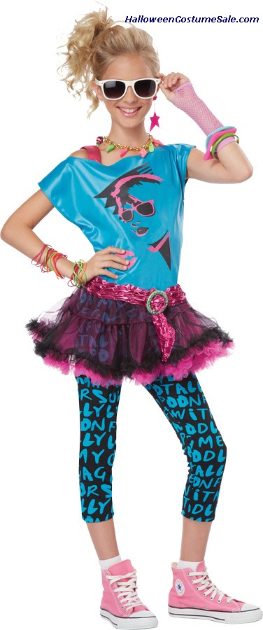 80S VALLEY GIRL TWEEN CHILD COSTUME