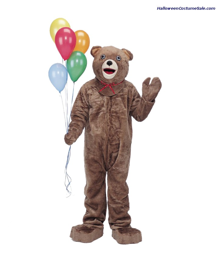 TEDDY BEAR MASCOT ADULT COMPLETE COSTUME