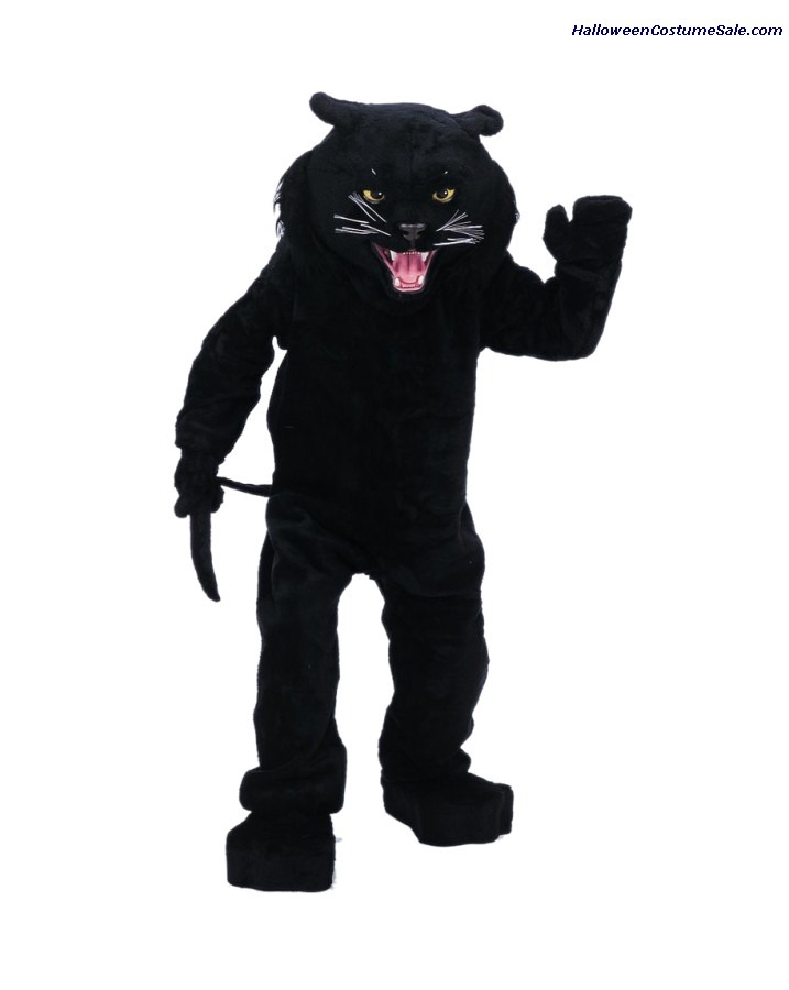 BLACK PANTHER MASCOT ADULT COMPLETE COSTUME