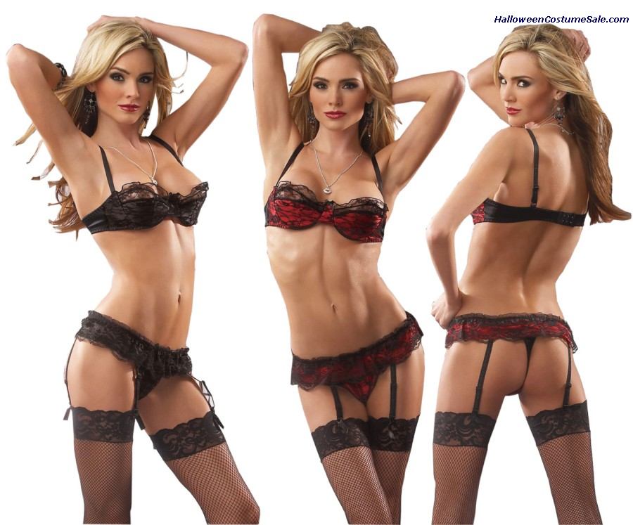 BRA GARTER THONG SET