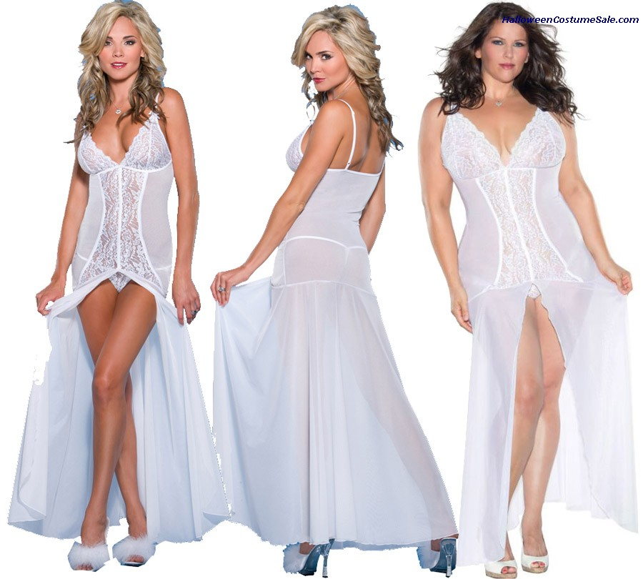 FLOOR LENGTH GOWN WITH G-STRING
