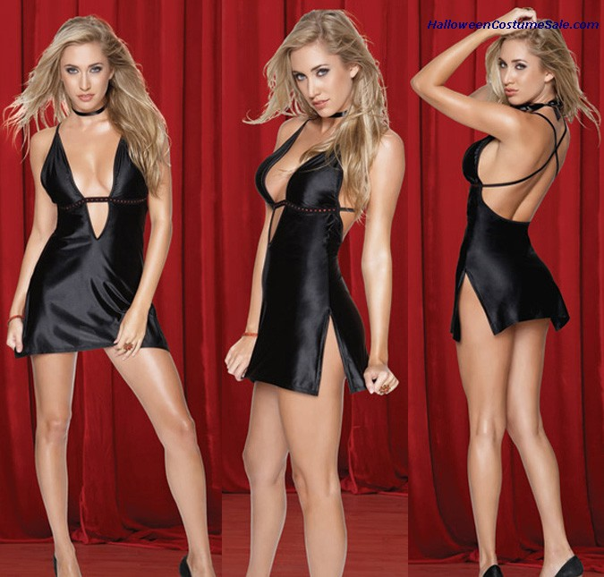 MINI DRESS WITH G-STRING - ADULT COSTUME