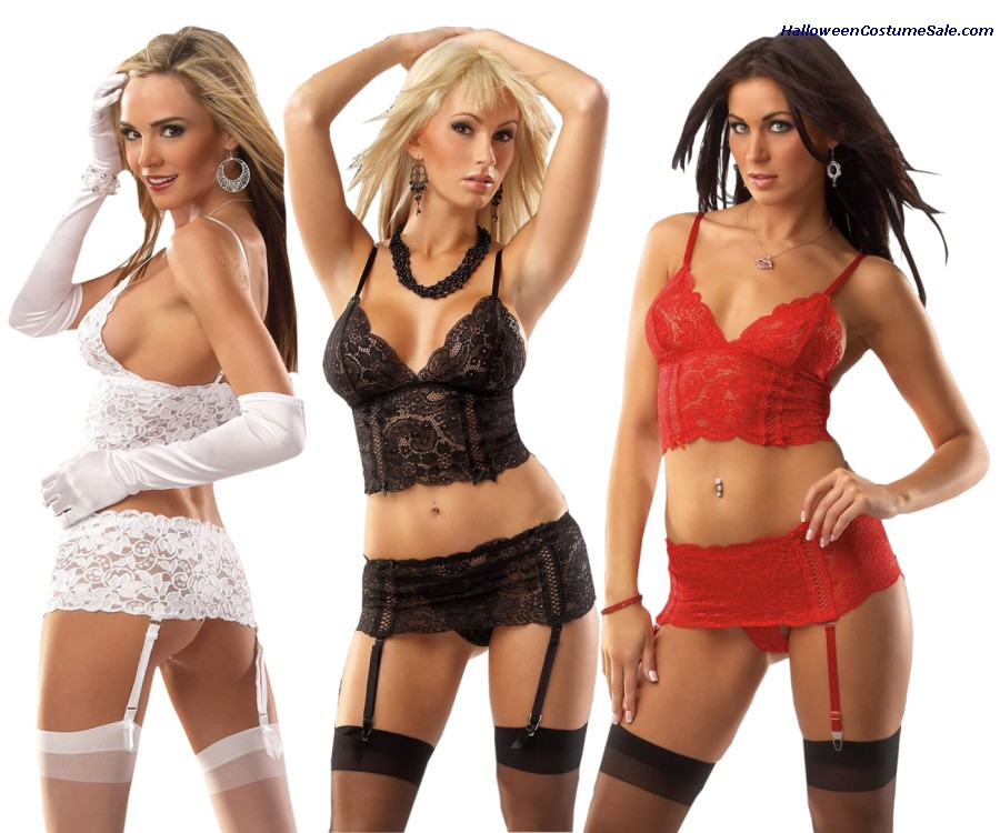 CAMISOLE & GARTER BELT SET