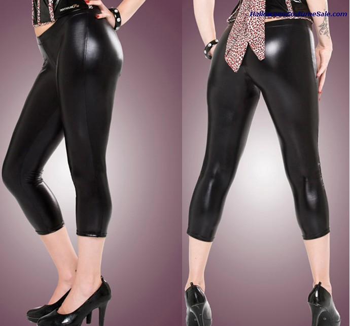 WETLOOK CAPRI PANTS - ADULT COSTUME