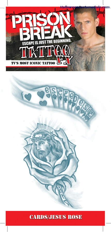 PRISON BREAK CARDS JESUS ROSE TATTOO
