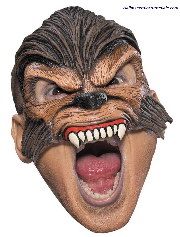WOLFMAN CHINLESS MASK - ADULT SIZE