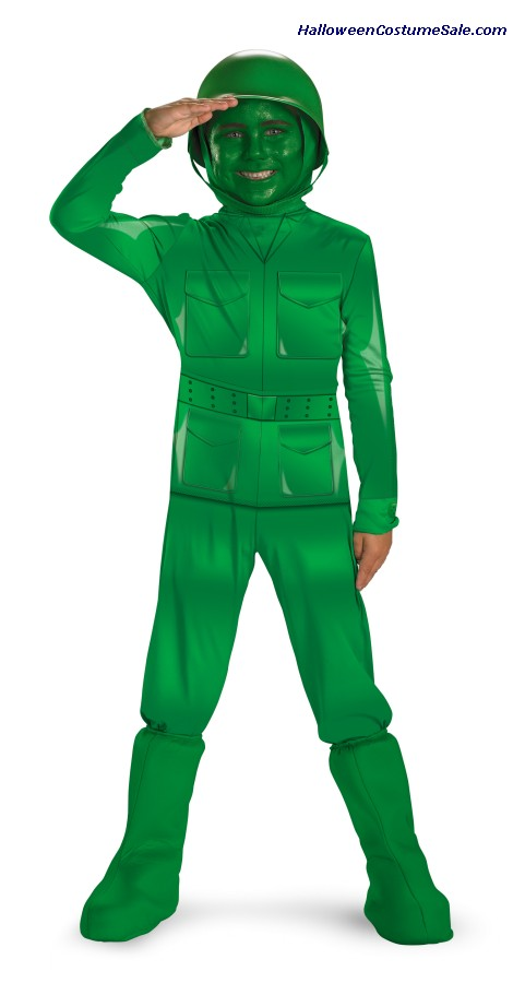 DELUXE GREEN ARMY MAN CHILD COSTUME