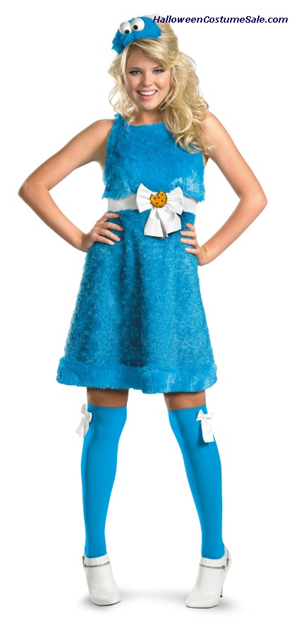 SASSY COOKIE MONSTER ADULT COSTUME