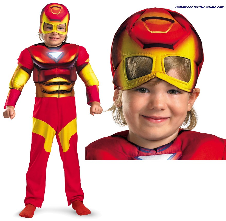 IRON MAN MUSCLE CHILD COSTUME