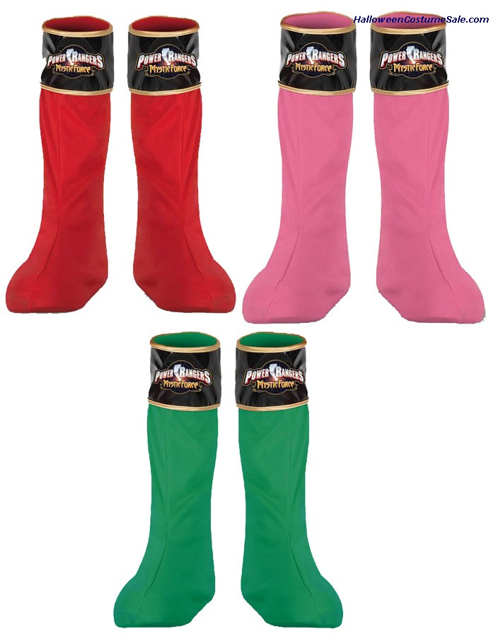 POWER RANGER BOOT COVERS - CHILD SIZE